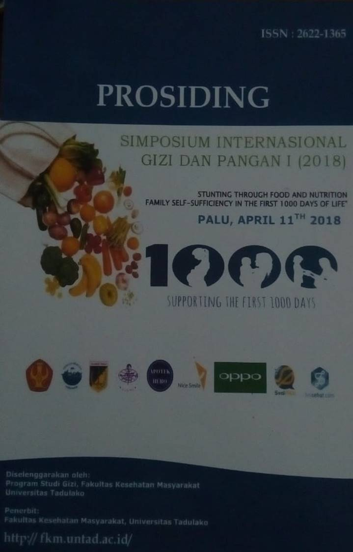 Prosiding Simposium Internasional Gizi dan pangan I(2018) : Stunting Trough food and Nutrition family self-sufficiency in the first 1000 days of life
