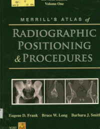 Image of Merrill's Atlas of Radiographic Positions & Radiologic Procedures  Volume One  Edition Eleventh